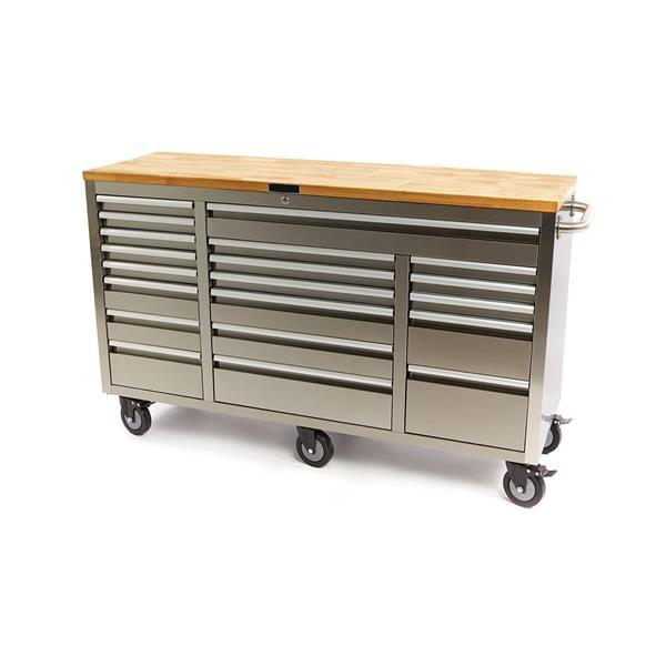 Edelstahl Werkstattwagen Werkzeugwagen 20 Schubladen Werkzeugschrank