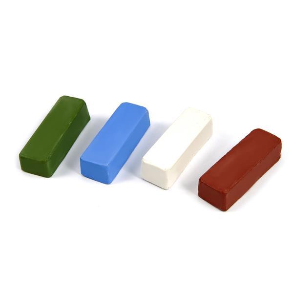 Polierpaste 4 tlg.Set mit den gängigen Polierpasten - Polierwachs