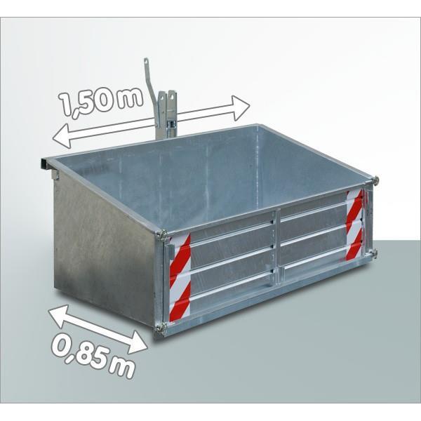 Heckcontainer für Traktoren Trecker 1,50 x 0,85 m Heckcontainer LSL 15 verzinkt