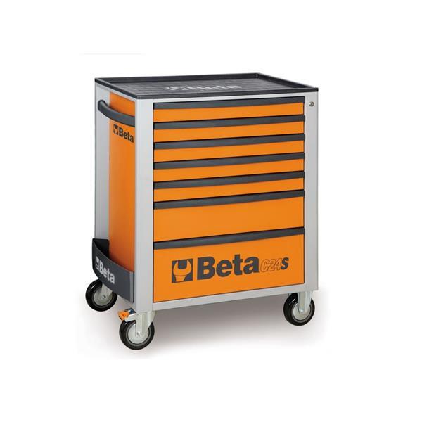 Beta Werkstattwagen Orange mit 7 Schubladen
