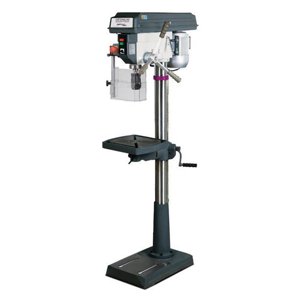 Säulenbohrmaschine Opti B 26 Pro Set Max. Bohrleistung in Stahl 25 mm inkl. Schraubsock