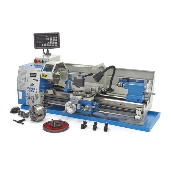 Drehmaschine, Drehbank 290x750 - V DRO zur Metallbearbearbeitung mit Digitaler Positionsanzeige und
