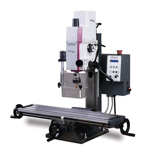 Neues Modell: OPTImill MH 20VL Stabile Bohr - Fräsmaschine mit elektronisch stufenlos regelbarem Ant
