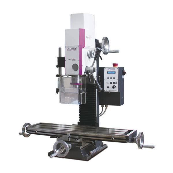 OPTImill MH 22V D Bohr Fräsmaschine mit Digitalem Anzeigesystem und großem Zubehörpaket