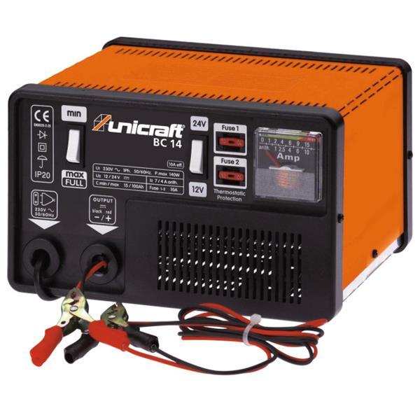 Batterieladegerät Unicraft BC 14 manuell. Manuelles Batterieladegerät für Wet-Batterien mit einer La
