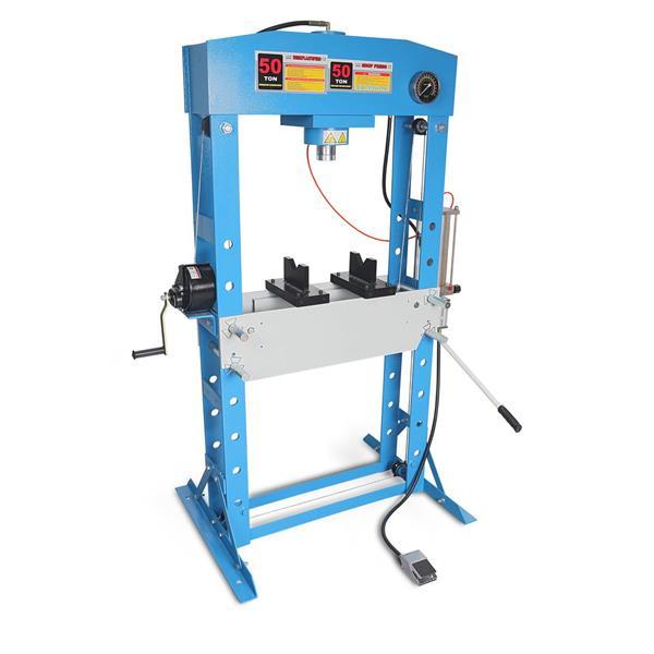 Werkstattpresse WP 50 mit Manometer 50 T To Pressdruck Gewicht 300 KG / Hydropneumatisch