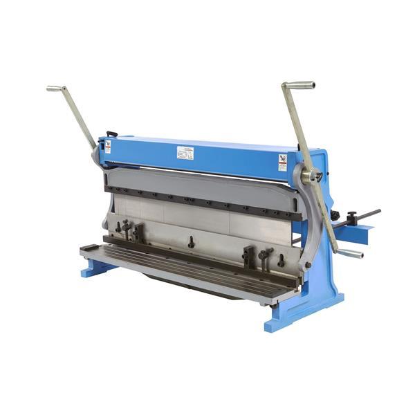 1015 mm 3 in 1 Biegemaschine, Kantbank, Blechschneidemaschine in einem.