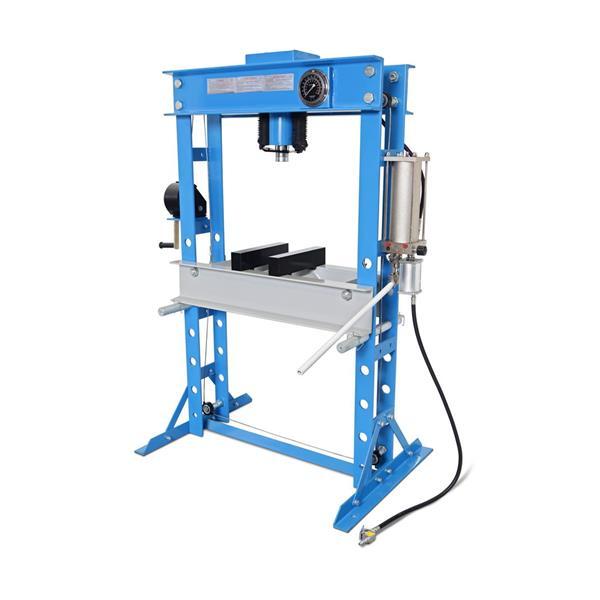 Werkstattpresse WP 45 mit Manometer 45 T Pressdruck / Gew. 300 KG / Hydropneumatisch