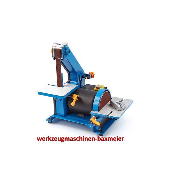 Kleine Kombi - Band und Tellerschleifmaschine 300 Watt Bandbreite / Länge 22x762 mm / Teller 125 mm