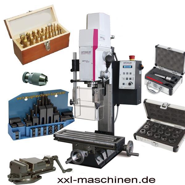 Neues Modell: Opti Mill MH 20 V Bohr - Fräsmaschine mit elektronisch stufenlos regelbarem Atrieb