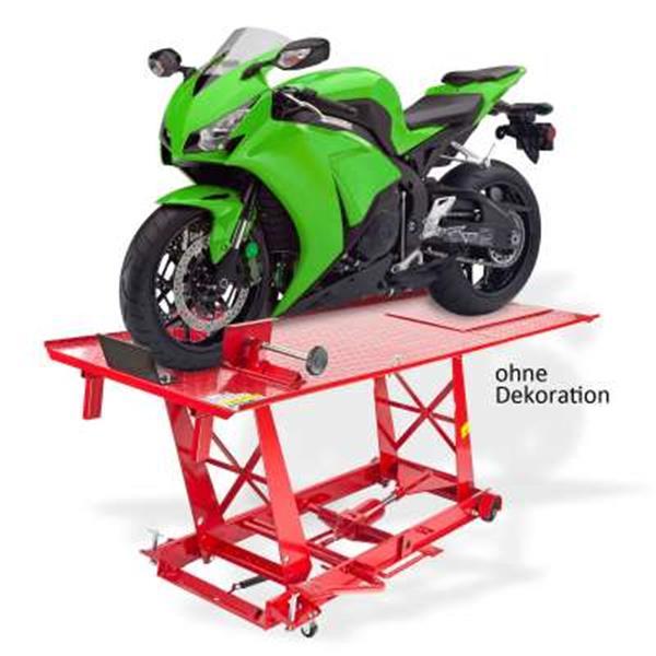 Motorradhebebühne Motorradbühne 450 kg Pneumatisch