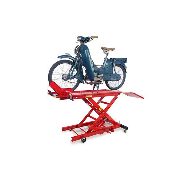 Motorradhebebühne H 100 für Moped, Roller u. kleine Motorräder Hublast 300 KG Max.