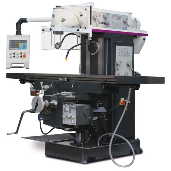 Optimum Optimill MT 200 Universalfräsmaschine Fräsmaschinen mit 3-Achsen-Positionsanzeige