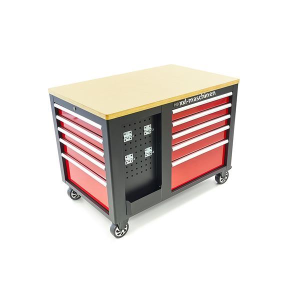 Großer Werkstattwagen Werkzeugwagen mobile Werkbank mit Holzplatte