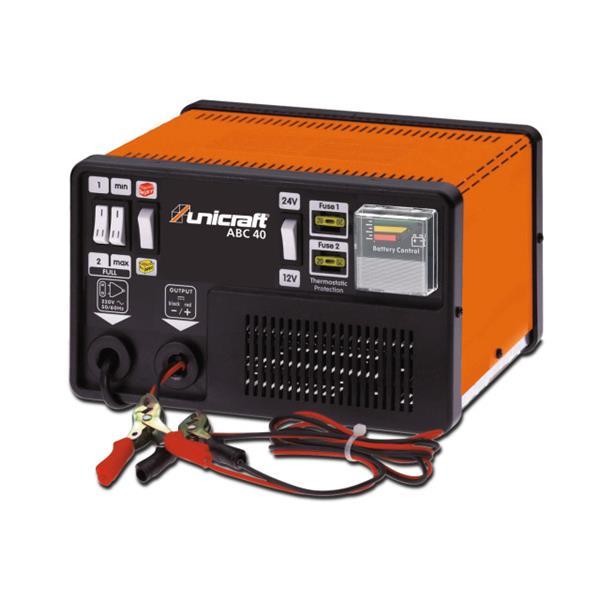 Batterieladegeraet Unicraft ABC 14 Automatisch. Automatisches Batterieladegeraet für Wet, Gel und AB