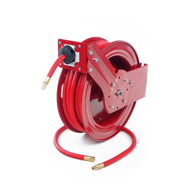20 Meter Druckluftschlauch Schlauchtrommel mit automatischer Aufrollmechanik