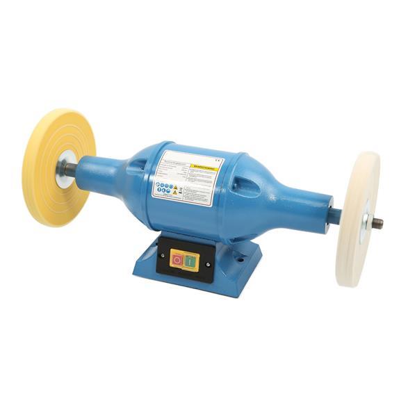 Doppel - Poliermaschine, Polierbock Filz / Gewebe. 0,75 KW - 200 mm Scheiben, 2950 U/min