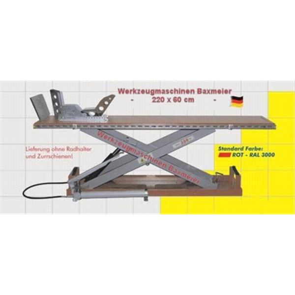 Hebebühne mit Fußpumpe mit 350 KG Hublast L 2200 B 600 H 950 mm