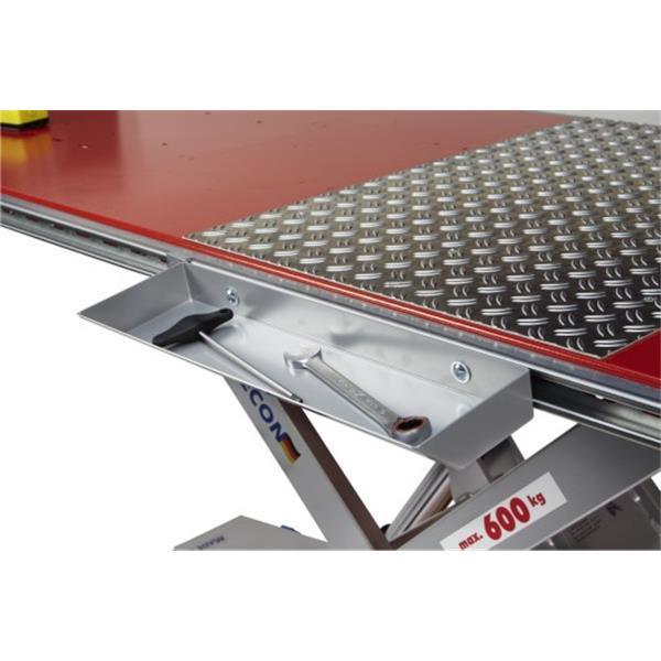 Kurze Werkzeugablage 500 x 150 mm