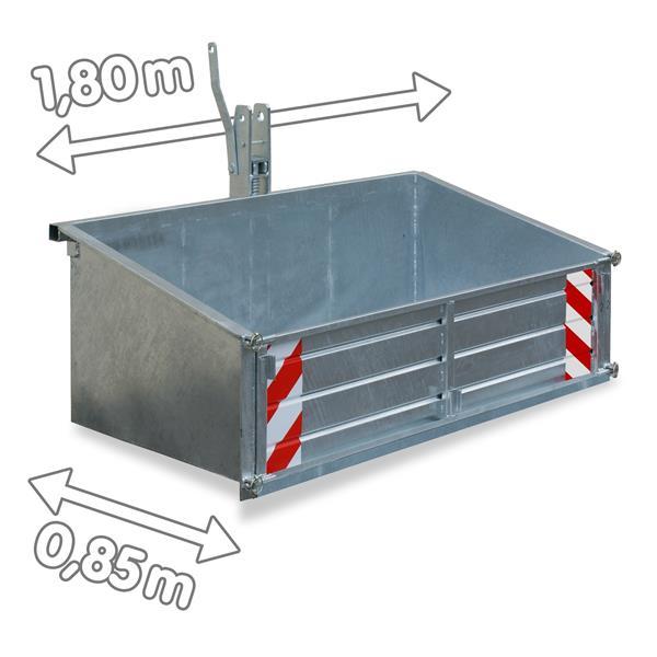 Heckcontainer für Traktoren Trecker 1,80 x 0,85 m Heckcontainer LSL 18 verzinkt