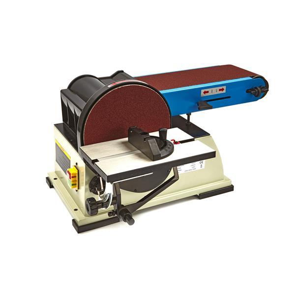 Band und Tellerschleifmaschine, schwere professionelle Maschine 150 x 1220 / 200