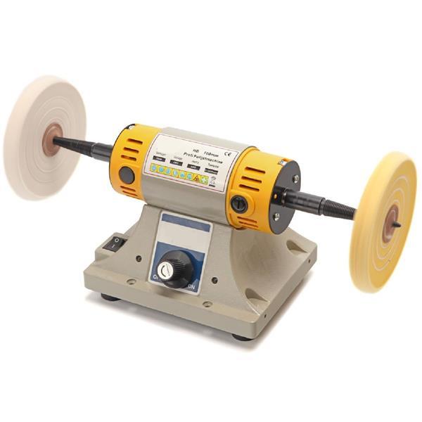 Kleine 100 mm Poliermaschine mit Drehzahlregelung und Baumwollscheiben