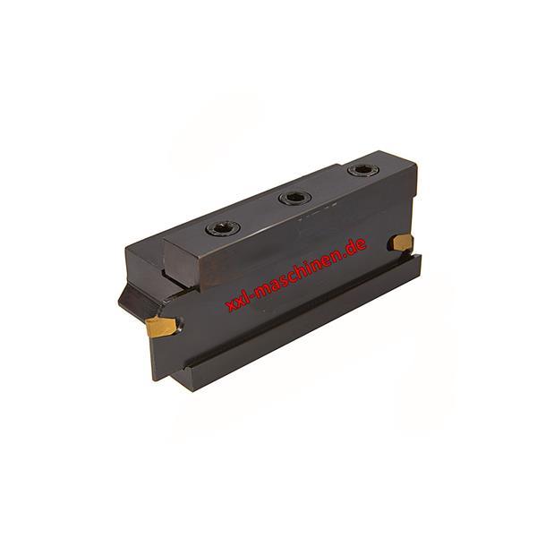 Abstechmesser mit 10 mm Wendeplattenhalter, Aufnahme 10 mm, mit Halter, Messer, 2mm Wendeplatten