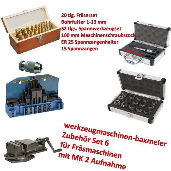 Zubehörset für Fräsmaschinen mit MK 2 Aufnahme
