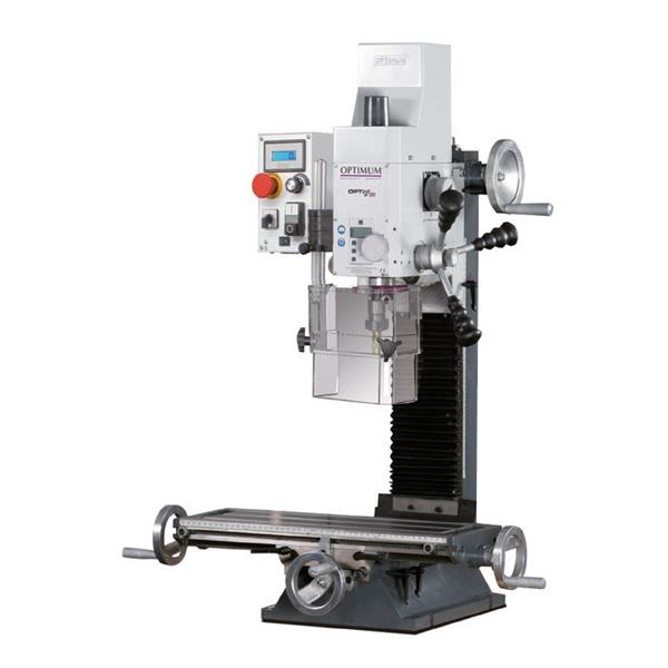 Opti mill BF 20 LD Vario Bohr - Fräsmaschine DRO 5 mit bereits montierter Positionsanzeige