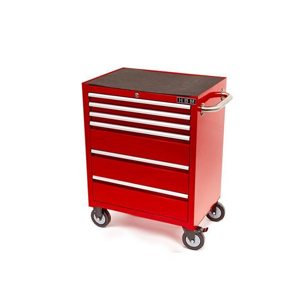 Werkstattwagen mit 6 Schubladen pulverbeschichtet Rot