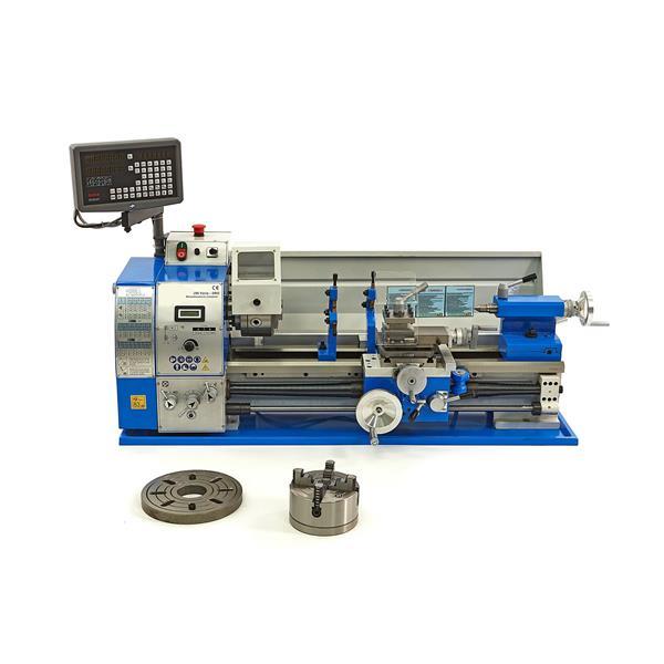 Drehmaschine, Drehbank 290 - V DRO zur Metallbearbearbeitung mit Digitaler Positionsanzeige und Zube