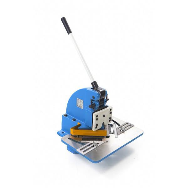 Ausklinkmaschine mit 4 Ton. Leistung/ max.1,6 mm Bleche 1,6 mm Dicke / Tisch 457 x 305 / 95 KG Gewic