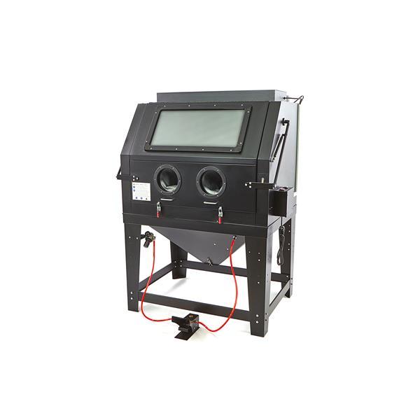 Glasstrahlkabine, Sandstrahlkabine SBC 990 XH, mit Strahlpistole, Fensterfolien, Licht, u. Düsen. H